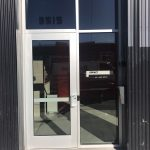 Single Glass Aluminum Door